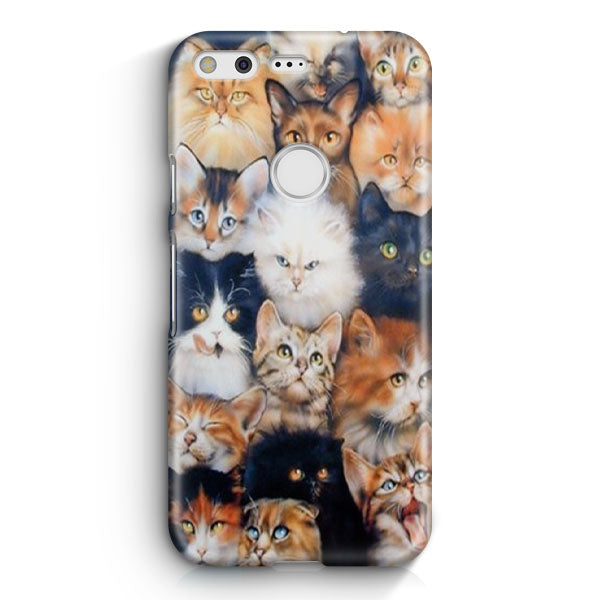 Angry Cute Cats Google Pixel XL Case