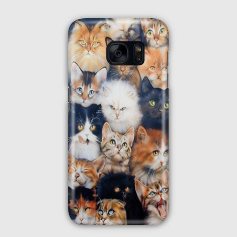 Angry Cute Cats Samsung Galaxy S7 Edge Case