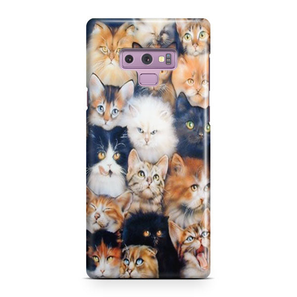 Angry Cute Cats Samsung Galaxy Note 9 Case