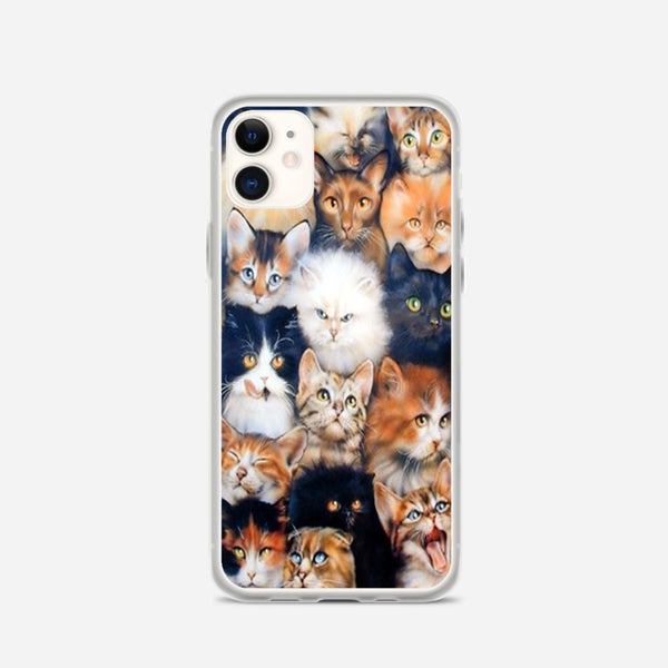 Angry Cute Cats iPhone X Case