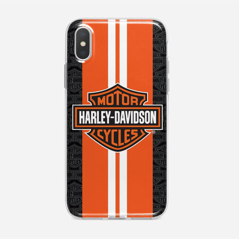 Harley Davidson Orange Racing iPhone XS Max Case