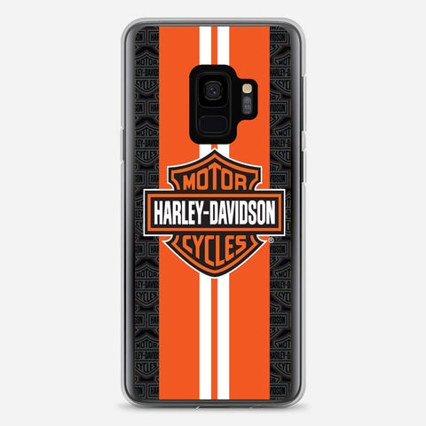 Harley Davidson Orange Racing Samsung Galaxy S9 Case