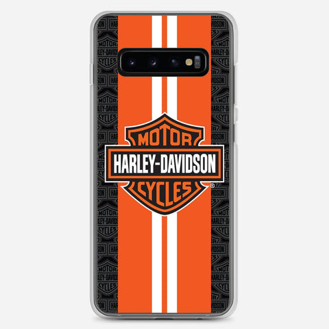Harley Davidson Orange Racing Samsung Galaxy S10 Plus Case
