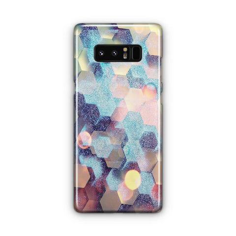 Hexagon Colored Samsung Galaxy Note 8 Case