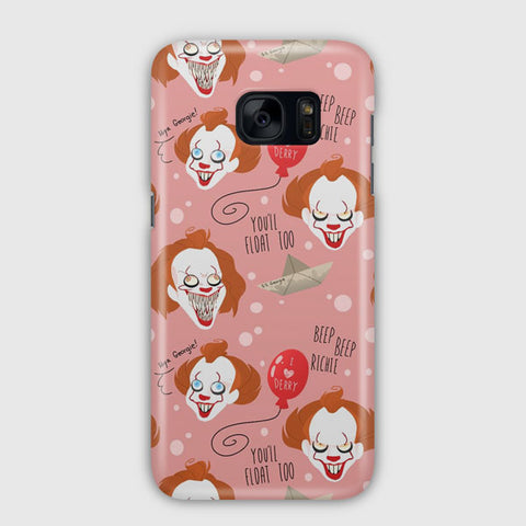 IT Pennywise Artwork Samsung Galaxy S7 Edge Case