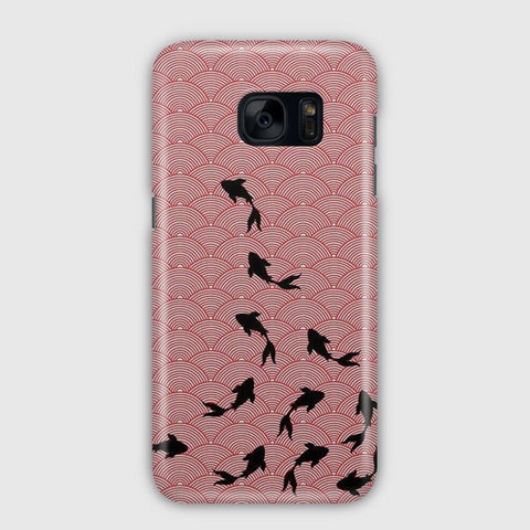Japanese Koi Fabric Art Samsung Galaxy S7 Edge Case
