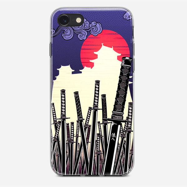 Katana Japan Artwork iPhone X Case