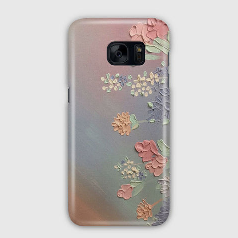 Artsy Retro Vintage Flowers Samsung Galaxy S7 Edge Case