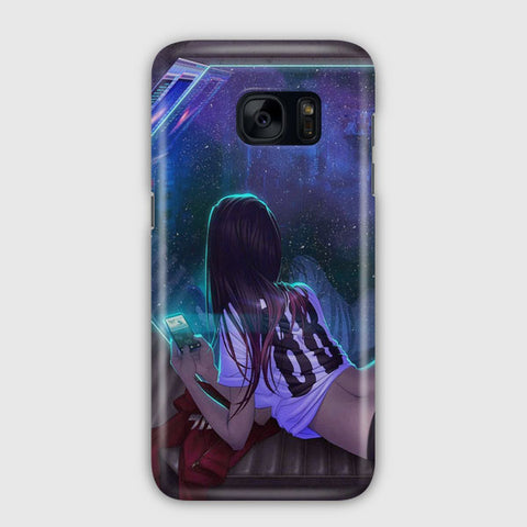 Late Night Message Samsung Galaxy S7 Edge Case