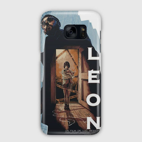 Leon Vintage Movie Poster Samsung Galaxy S7 Edge Case