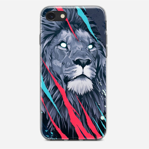 Lion Illustration iPhone SE Case