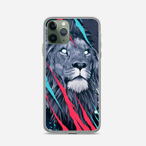 Lion Illustration iPhone 11 Pro Max Case