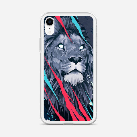 Lion Illustration iPhone XR Case
