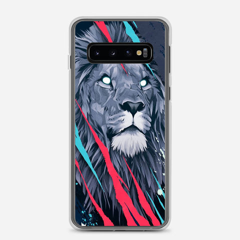 Lion Illustration Samsung Galaxy S10 Case