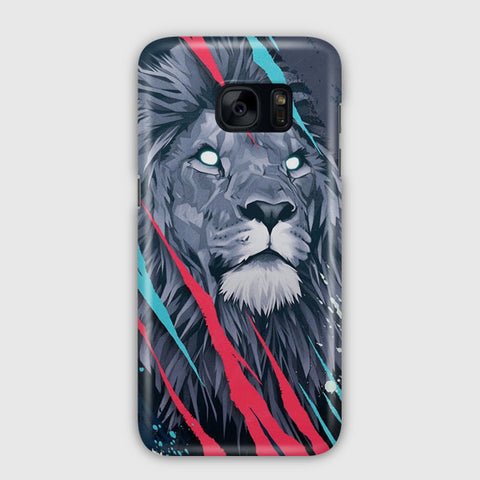 Lion Illustration Samsung Galaxy S7 Case