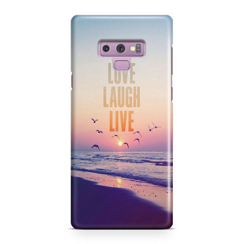 Love Laugh Live Samsung Galaxy Note 9 Case