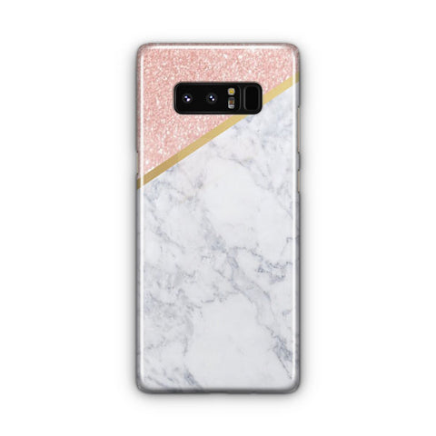 Marble Rose Gold And Gold Samsung Galaxy Note 8 Case