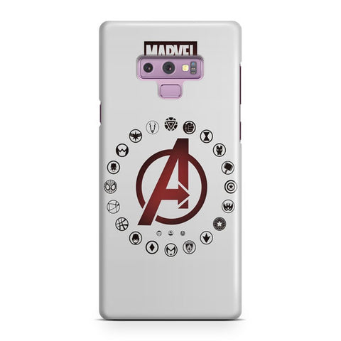 Marvel Artwork Samsung Galaxy Note 9 Case