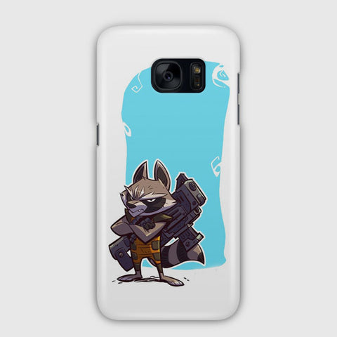 Marvel Rocket Raccoon Artwork Samsung Galaxy S7 Edge Case