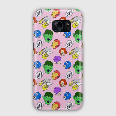Avengers LOL Illustration Samsung Galaxy S7 Edge Case
