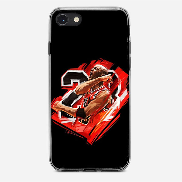 Michael Jordan Illustration iPhone X Case