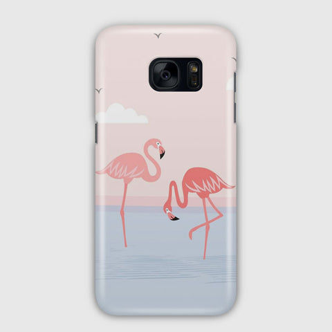 Minimalist Flamingo Samsung Galaxy S7 Edge Case