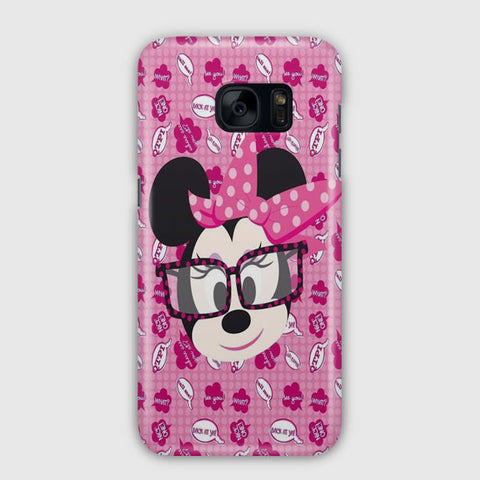 Minnie Mouse Said Pattern Samsung Galaxy S7 Edge Case