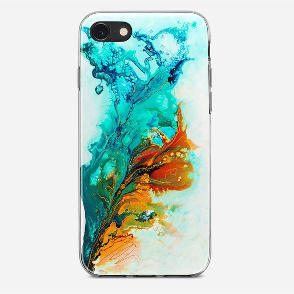 Multicolored Water Effect Fluid iPhone X Case