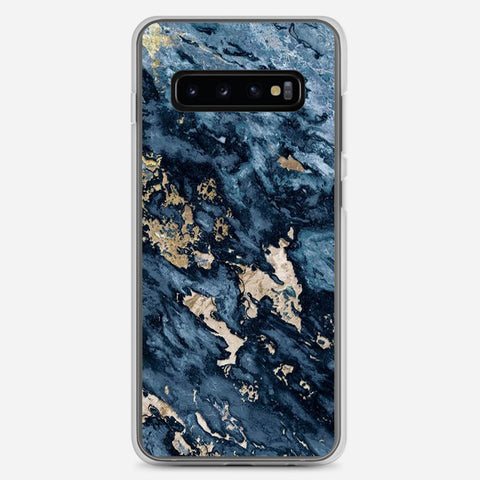 Navy Blue Marble Samsung Galaxy S10 Plus Case