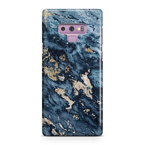 Navy Blue Marble Samsung Galaxy Note 9 Case