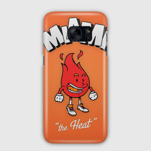 NBA Miami Heat Cute Logo Samsung Galaxy S7 Edge Case