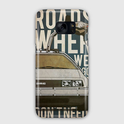 Back to the Future Artwork Samsung Galaxy S7 Case