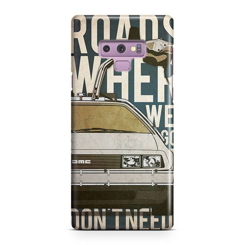 Back to the Future Artwork Samsung Galaxy Note 9 Case