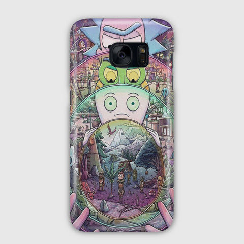 Nintendo Awesome Rick And Morty Samsung Galaxy S7 Edge Case