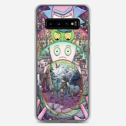 Nintendo Awesome Rick And Morty Samsung Galaxy S10 Plus Case