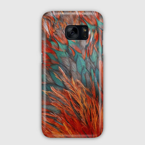 Orange Feathers Samsung Galaxy S7 Edge Case