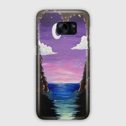 Paradise Cove At Midnight Samsung Galaxy S7 Edge Case