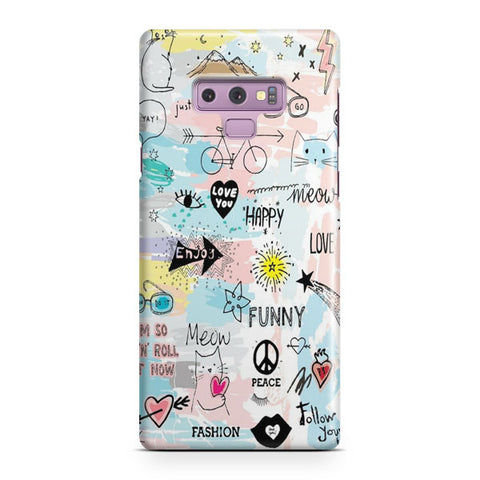 Pastel Sketch Samsung Galaxy Note 9 Case