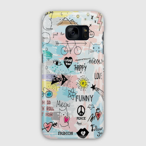 Pastel Sketch Samsung Galaxy S7 Edge Case