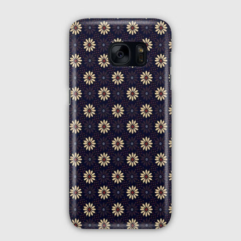 Pastel Spring Flowers Fabric Samsung Galaxy S7 Edge Case