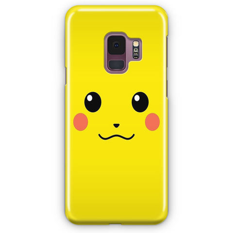 Pikachu Yellow Unicolor Cute Samsung Galaxy S9 Case