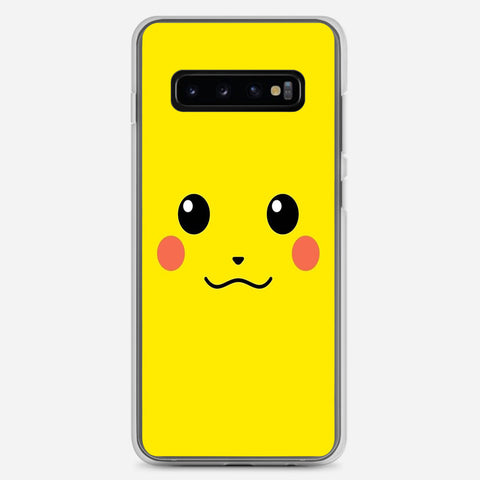 Pikachu Yellow Unicolor Cute Samsung Galaxy S10 Plus Case