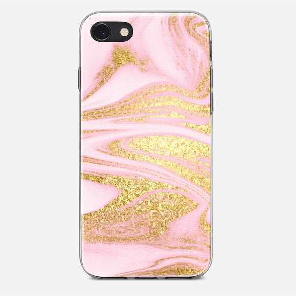 Pink And Gold iPhone X Case