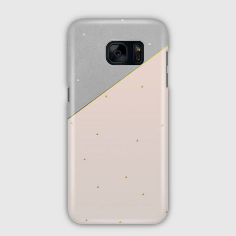 Pink And Gray Samsung Galaxy S7 Edge Case