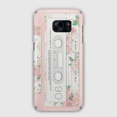 Pink Cassette Tape Samsung Galaxy S7 Edge Case