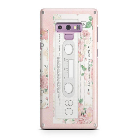 Pink Cassette Tape Samsung Galaxy Note 9 Case