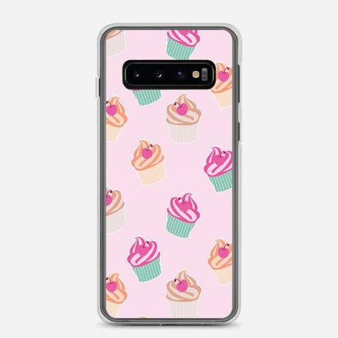 Pink Cup Cakes Samsung Galaxy S10 Case