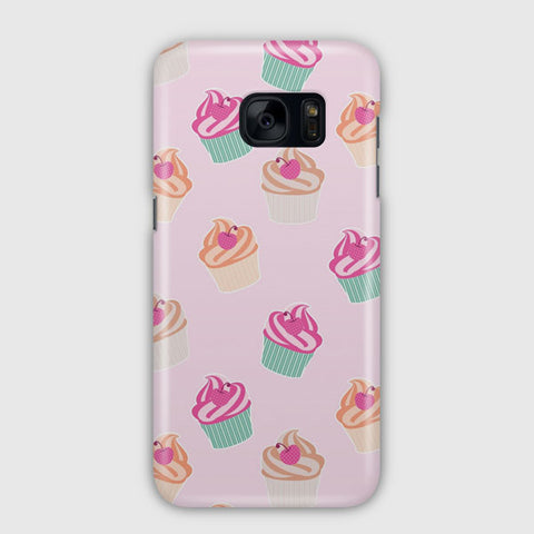 Pink Cup Cakes Samsung Galaxy S7 Edge Case
