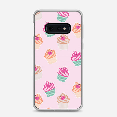 Pink Cup Cakes Samsung Galaxy S10e Case