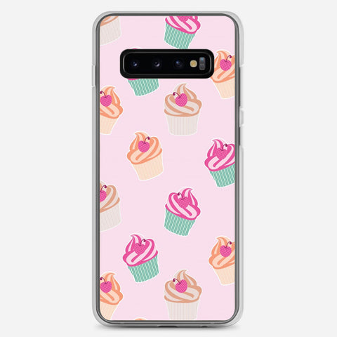 Pink Cup Cakes Samsung Galaxy S10 Plus Case